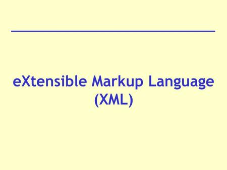 "EXtensible Markup Language (XML). Definition XML is a cross-platform, software and hardware independent tool for transmitting information. ""XMl is going."