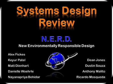 1. Mission Statement Design Requirements Aircraft Concept Selection Advanced Technologies / Concepts Engine / Propulsion Modeling Constraint Analysis.