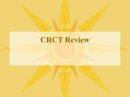 CRCT Review. CRCT Prep Quiz 1 S6E5a. Compare <strong>and</strong> contrast the Earth's crust, mantle, <strong>and</strong> core including temperature, density, <strong>and</strong> composition.