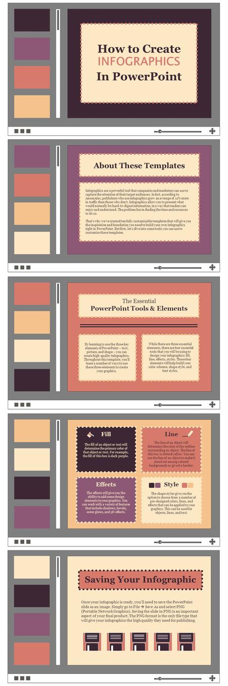 By learning to use the three key elements of PowerPoint – text, picture, and shape – you can create high-quality infographics. Throughout this template,