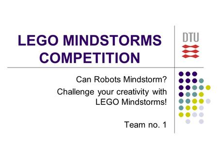LEGO MINDSTORMS COMPETITION