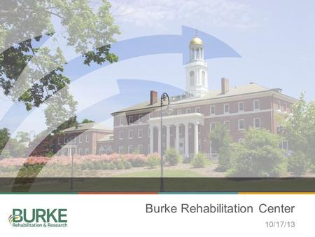 Burke Rehabilitation Center 10/17/13. TABLE OF CONTENTS Rehabilitation Hospital Research Institute Outpatient Division Community Programs.
