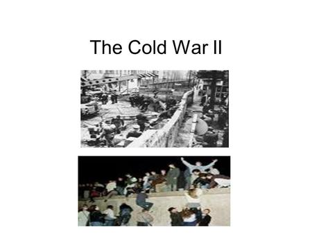 The Cold War II. The Berlin Wall Tells The Story West Berlin was a free western city inside Communist East Germany Stalin failed to take the city by blockade.