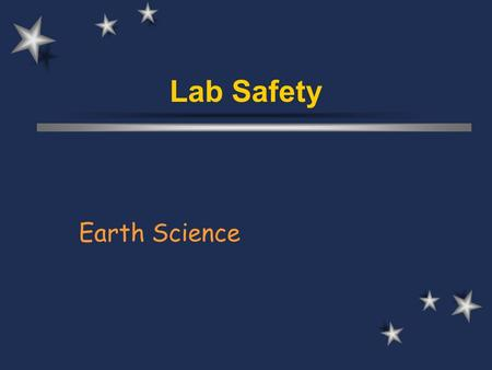 Lab Safety Earth Science.