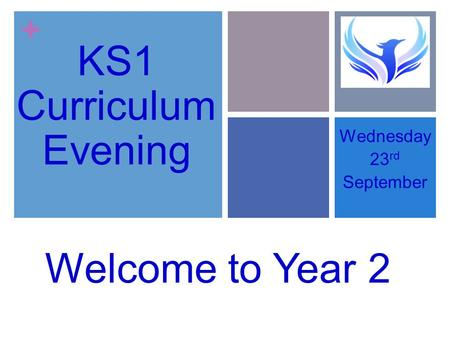 + KS1 PARENTS MEETING Wednesday 23 rd September Welcome to Year 2 KS1 Curriculum Evening.