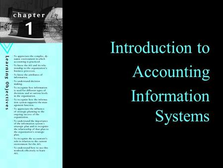 Introduction to Accounting Information Systems.