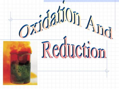 Oxidation Process in which atoms or ions attain a more + oxidation state Ex. Na → Na + + e Cl - → Cl + e Ca + → Ca 2+ + e.