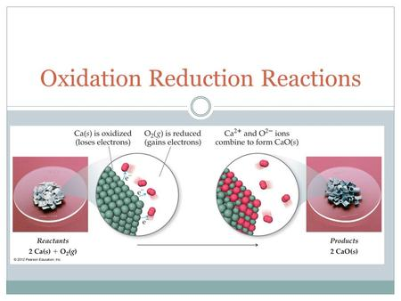 Oxidation Reduction Reactions. Types of Reaction  Oxidation-Reduction called Redox Ionic compounds are formed through the transfer of electrons. An Oxidation-reduction.
