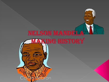  Born July 18 th 1918, Nelson Mandela went on to become a wonderful leader.  His African name was Rolihlahla Mandela.  He was given an English name.