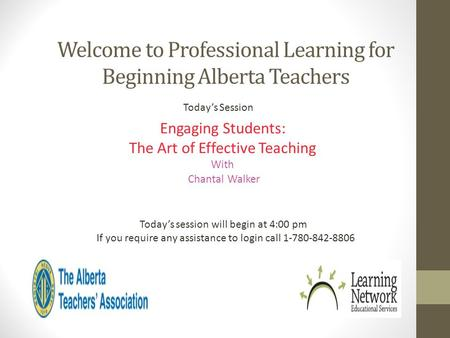 Welcome to Professional Learning for Beginning Alberta Teachers
