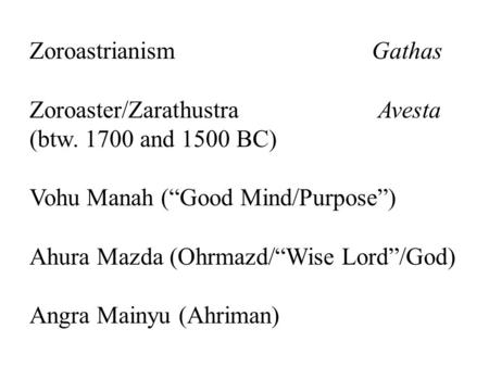 essay zarathustra zoroastrianism View essay - zoroastrianism paper from rel 2300 at university of south florida how did zoroastrianism change after the death of zarathustra after zarathustra died a.