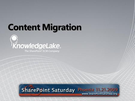 Content Migration. Founded in 1999 with HQ in St. Louis, MO and sales/service offices across the country First mover With SharePoint for ECM – 2003.