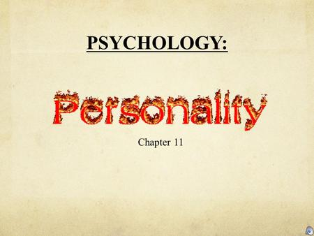 PSYCHOLOGY: Chapter 11. Name the artist? Maybe you've heard his music.