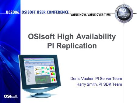 OSIsoft High Availability PI Replication
