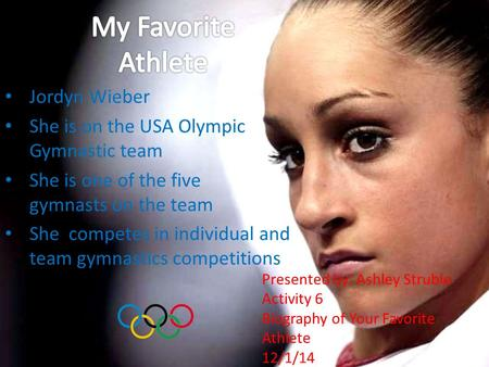 My Favorite Athlete Jordyn Wieber