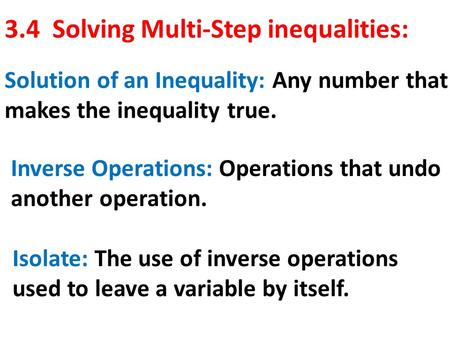 the concept of compound inequalities You'll learn the definition for a compound inequality and also see how it can be   inequalities come up all the time when you're working algebra problems.