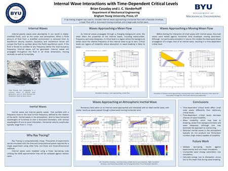 Internal Wave Interactions with Time-Dependent Critical Levels Brian Casaday and J. C. Vanderhoff Department of Mechanical Engineering Brigham Young University,