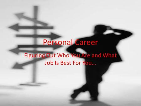 Personal Career Figuring Out Who You Are and What Job Is Best For You…