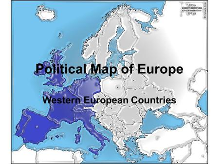 Political Map of Europe Western European Countries.