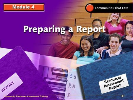 Community Resources Assessment Training 4-1. Community Resources Assessment Training 4-2.