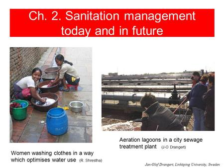Ch. 2. Sanitation management today and in future