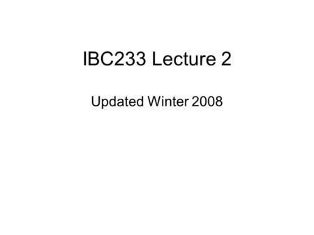 IBC233 Lecture 2 Updated Winter 2008 Agenda Test next Week – Jan 23 ISeries Architecture CL (Control Language) Library Lists Operations Navigator.