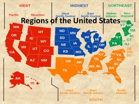 Regions of the United States. North East Let's share facts!