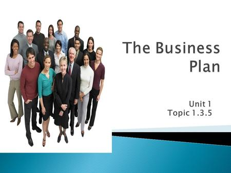 Unit 1 Topic 1.3.5.  Must learn: the purpose of a business plan  Should learn: the process of setting up a business step by step  Could learn: the.