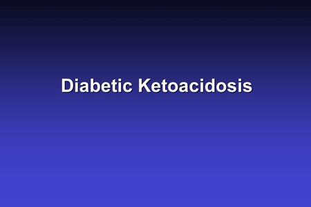 Diabetic Ketoacidosis.  An anion gap acidosis due to severe insulin deficiency and excess of counterregulatory hormones.