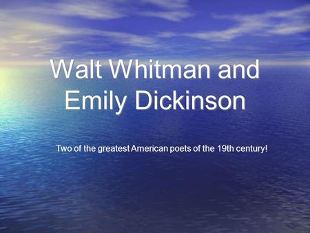 america walt whitman analysis