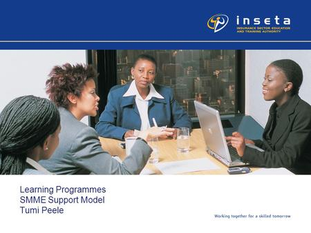 Learning Programmes SMME Support Model Tumi Peele.