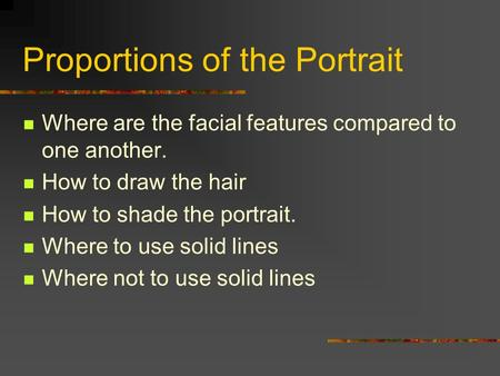 Proportions of the Portrait