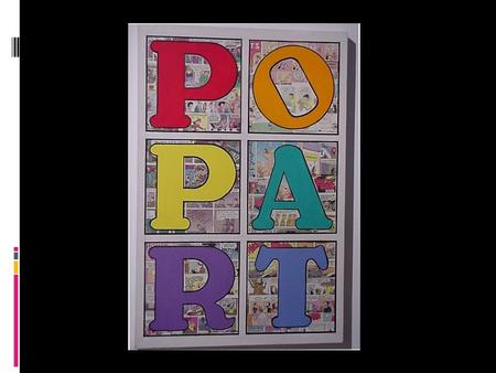 Pop art is a visual art movement that emerged in the mid 1950s in Britain and in the late 1950s in the United States. Pop art is an art movement of the.