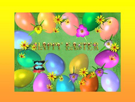 "Easter is a very important festival in Grait Britain. Easter day is always on Sunday and it is spring. The wish for this day :""Happy Easter!"" There are."