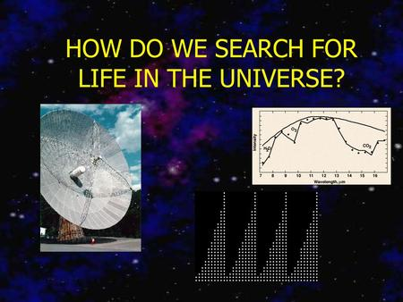 HOW DO WE SEARCH FOR LIFE IN THE UNIVERSE?. Necessary Assumptions All civilizations follow a certain set of broad universal pathways. There are civilizations.