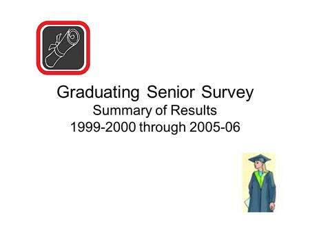 Graduating Senior Survey Summary of Results 1999-2000 through 2005-06.