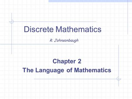 Discrete Mathematics R. Johnsonbaugh