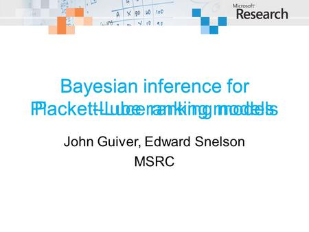 Bayesian inference for Plackett-Luce ranking models