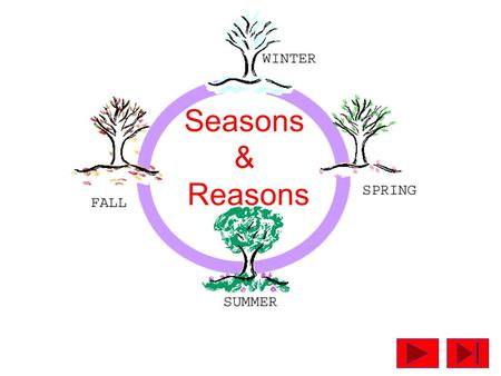 Seasons & Reasons. SEASONS Derives from the weather pattern in middle latitudes where the onset of growth in plants and the reawakening of nature from.