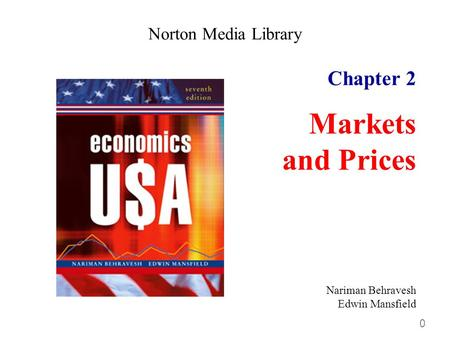 0 Chapter 2 Markets and Prices Norton Media Library Nariman Behravesh Edwin Mansfield.