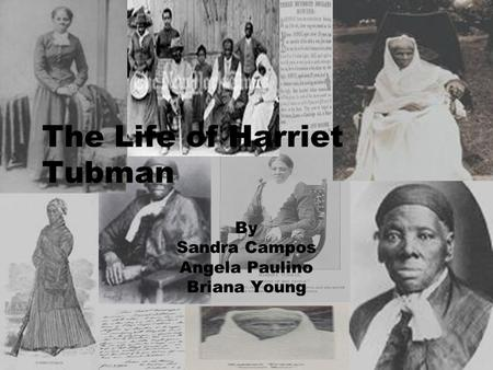 The Life of Harriet Tubman By Sandra Campos Angela Paulino Briana Young.