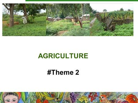 AGRICULTURE #Theme 2. Working sessions 1.Crop Trait ontology 2.Biocuration in agrodatabases 3.SPM III: Visual and textual standards for taxonomic identification.