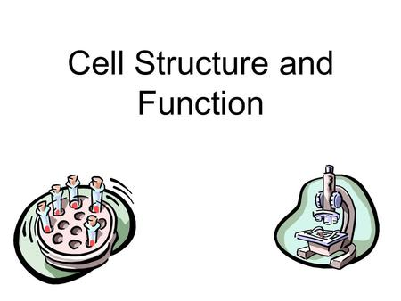 Cell Structure and Function. The Cell Theory All living things are made of one or more cells All cells come from pre-existing cells Cells are the basic.