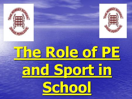 The Role of PE and Sport in School. The government has placed great importance on PE and sport in school. The government has placed great importance on.