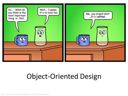 object oriented design If you've never used an object-oriented programming language before, you'll need to learn a few basic concepts before you can begin writing any code.