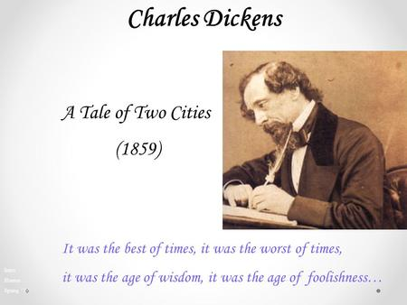 Charles Dickens A Tale of Two Cities (1859)