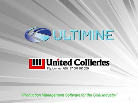 "1 ""Production Management Software for the Coal Industry"""