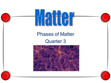 Phases of Matter Quarter 3. 1. Everything that has mass and volume is called matter.