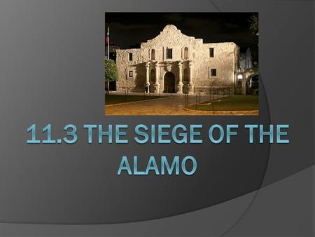 The Mexican Army Advances  Seeking revenge against the rebellious Texans, Santa Anna decided that he would personally lead the attack.  In Feb. 1836.