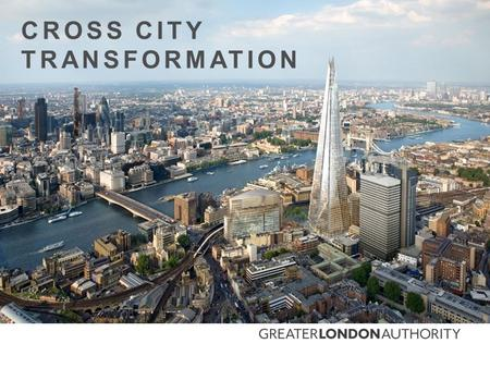CROSS CITY TRANSFORMATION. AN INCREASING POPULATION Increased development Increased energy demand Increased mobility demand.